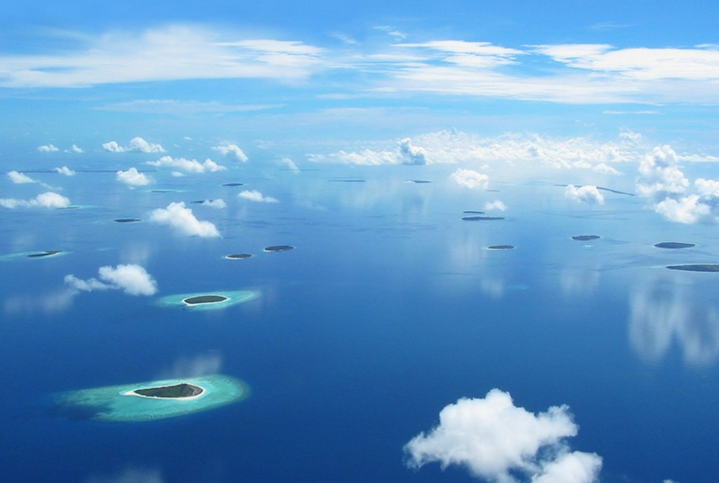Aerial view of Islands of Maldives