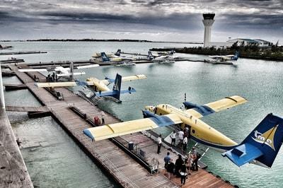 水上飛行機での旅