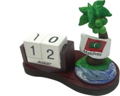 Maldives Calendar with Coconut palm (STT002)