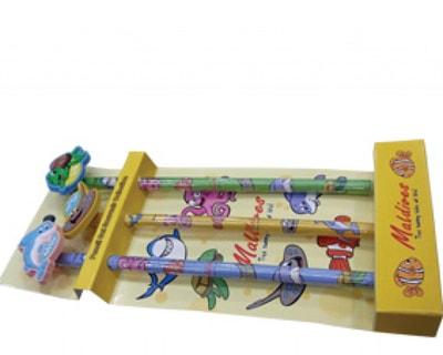 Maldives Pencil set with eraser (STT012)