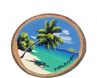 Hand Painted Wooden Magnet of Maldives (MGW002)