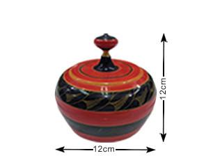 Malediven Traditionelle, handgefertigte, lackierte Schachtel (TRD007)