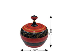 Malediven Traditionelle, handgefertigte, lackierte Schachtel (TRD005)
