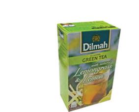 Dilmah Green tea with Lemongrass and Lemon, 20 tea bags, net weight 30g (FDT036)