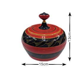 Malediven Traditionelle, handgefertigte, lackierte Schachtel (TRD008)