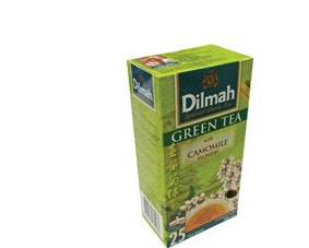 Dilmah Green tea with Camomile, 25 tea bags, net weight 50g (FDT034)