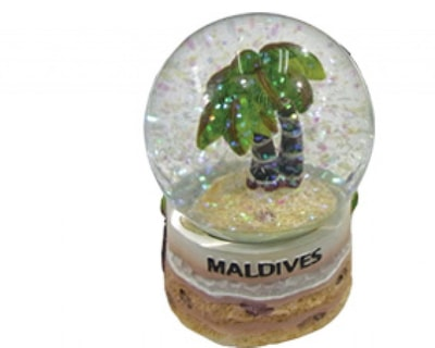 Water Globe with coconut palm (HW002)
