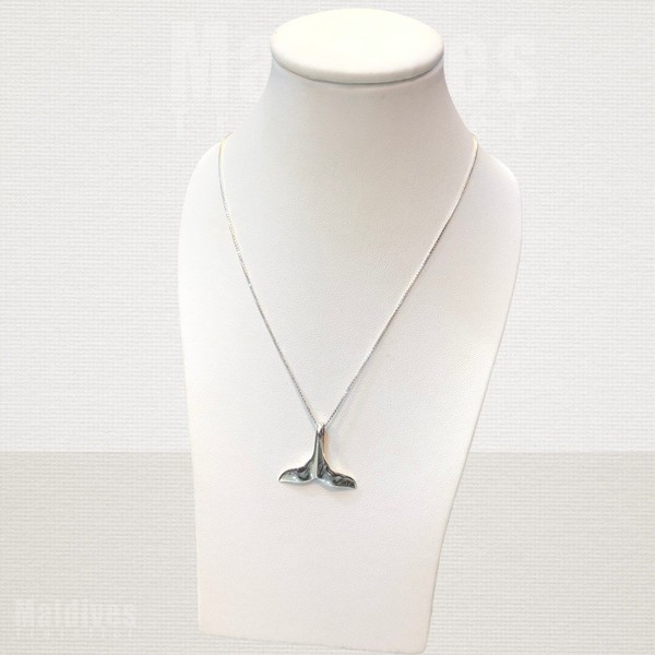 Silver pendant Dolphin tail (PS107)