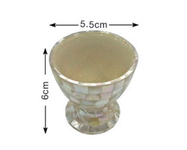 Handgemachtes Salz- und Pfefferset der Malediven mit Austernschale (LXH001)