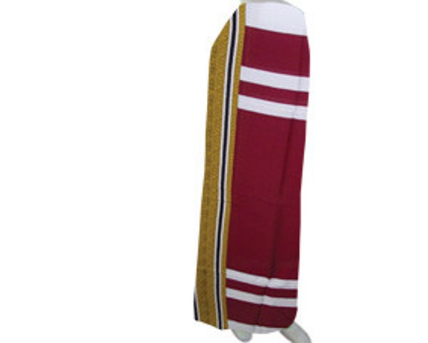 Traditional pareo in maroon (STP004)