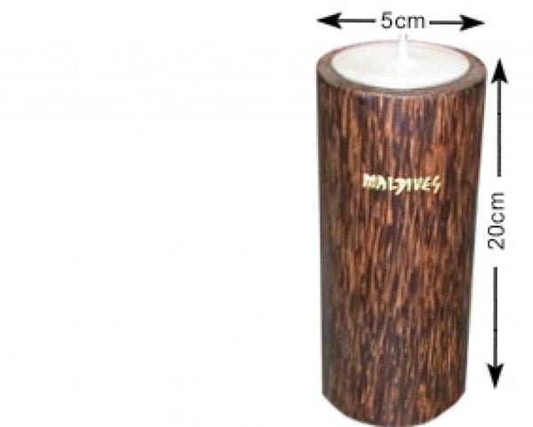 Portacandele in legno di cocco delle Maldive (WLC016)