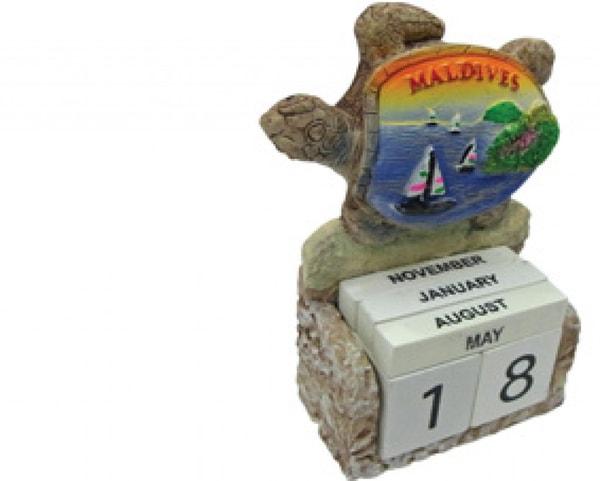 Malediven-Kalender, Schildkröte mit Segel (STT004)