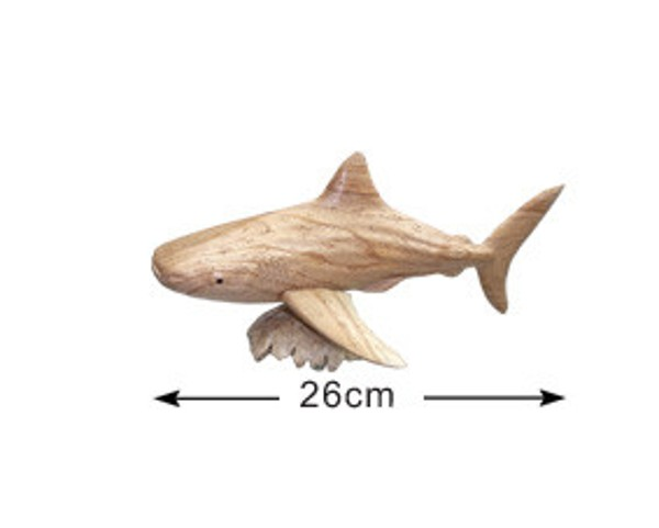 Handmade wooden Whale shark (DS002)