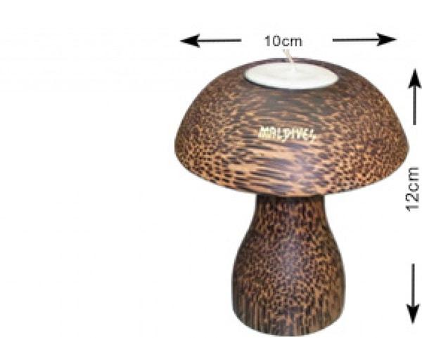 Portacandele in legno di cocco delle Maldive (L), (WLC003)