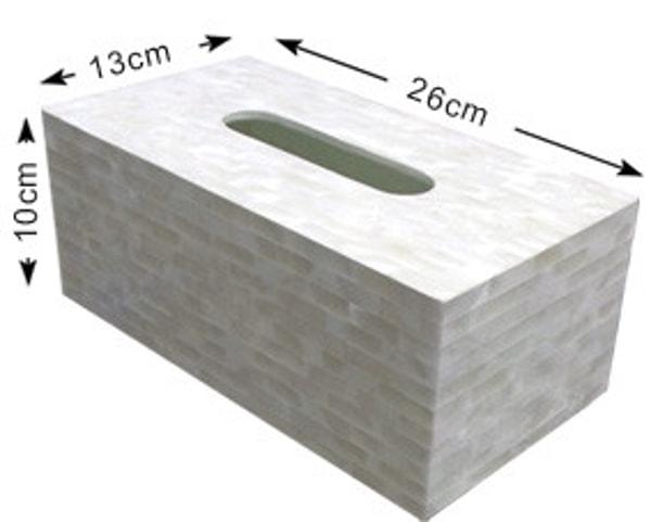 Scatola di tessuto fatto a mano Maldive con guscio d'ostrica (LXH007)