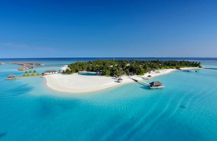 Aerial view of Velassaru Maldives