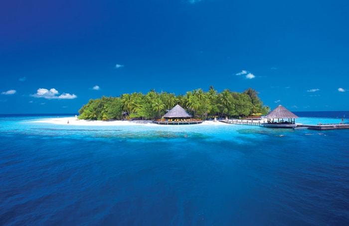 Beautiful small island of Angsana Ihuru