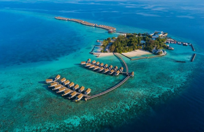 Aerial view of Centara Ras Fushi Resort & Spa